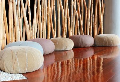 Meditation Room With Cushions Free Image